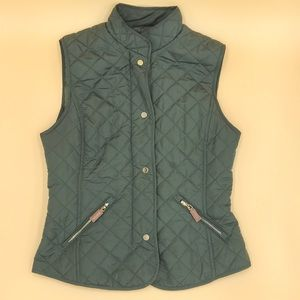 Jackets & Blazers - Olive Equestrian Puffer Vest
